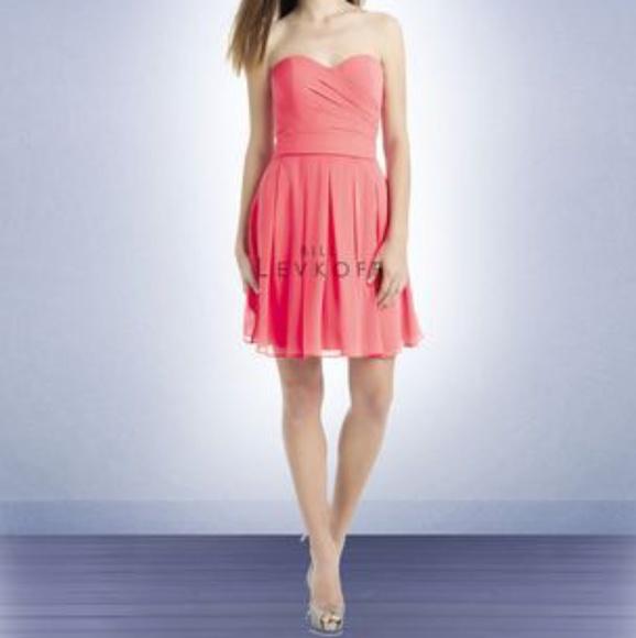 4d707e43f5f4 Bill Levkoff Dresses | Chiffon Strapless Dress | Poshmark